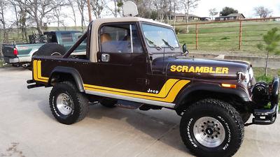Cj scrambler 1981 jeep cj8 scrambler 4 wheel drive w winch for sale