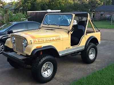jeep cj renegade 1982 cj 5 renegade jeep 4 x 4 solid fixer upper for sale. Black Bedroom Furniture Sets. Home Design Ideas