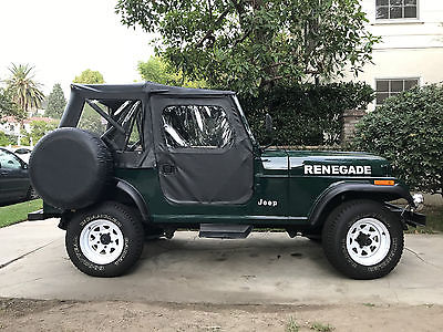1983 jeep cj renegade classic jeep cj7 renegade for sale. Black Bedroom Furniture Sets. Home Design Ideas